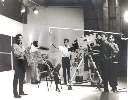 Image Caption: A 1967, black and white, archive photograph of a TTT production. Photographer unknown.