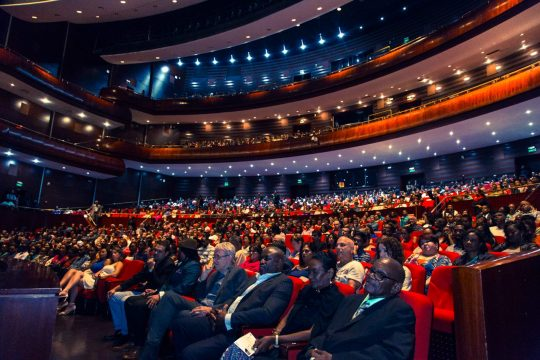 Image Caption: A wide photograph of the large audience at the ttff/17 Opening Night Gala. 23rd September, 2017. (Photograph by NeuFX)