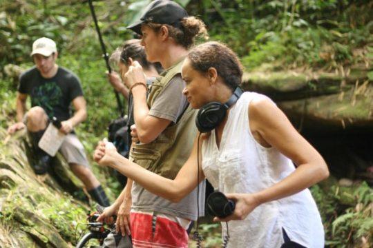 Image Caption: Filmmaker Juliette McCawley at work